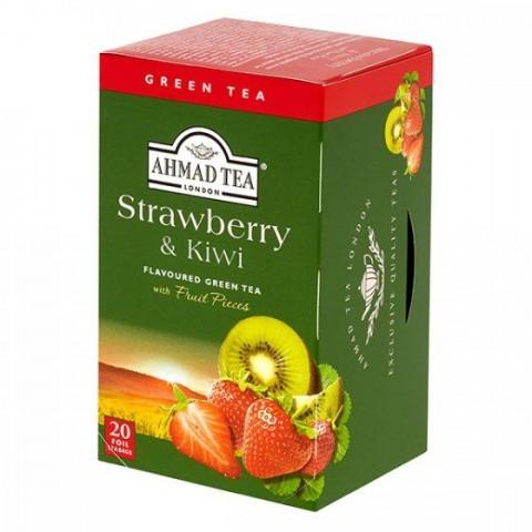 Čaj Ahmad Zelený Jahoda & Kiwi