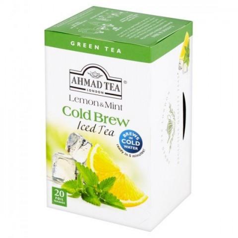 Ledový čaj Ahmad zelený Máta s citronem